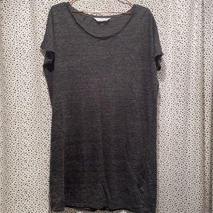 Everlane M 100% linen tee shirt dress